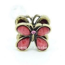 fashion colorful crystals ancient golden butterfly Claw clip as hair accessories