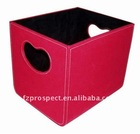Red storage container, foldable storage case