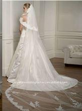 Elegant two layers long bridal veil/wedding veil CWFav1375