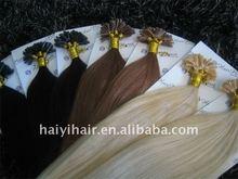 wholesale nice looking beauty fashion nail u tip italy keratin hair