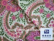 100% Cotton Shirt Fabric 60X60/90X88 9088 Hand Block Print Fabric Cotton Sheeting Fabric Factory In Huzhou City