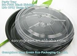 ShinningBlack Plastic Food Tray With Lid EG-700R