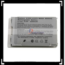 """Silver Notebook Battery for Powerbook G4 12"""" A1022 A1060 A1079 '(6 Cell 10.8V 5200mAh)"""