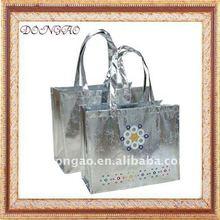 silver non woven tote bag