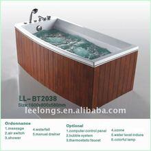 Luxury ABS plastic surfing wooden bathtub