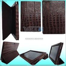 Brown Hight Lighting PU Like Crocodile Skin Leather Case for ASUS Eee Pad TF101 ASUSEPADCASE004