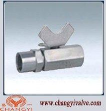 stainless steel 2pc mini ball valve