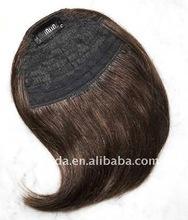 Brown Inclined Bang Human Hair Extension