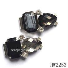 Crystal rhinestone shoe clip on lady shoes