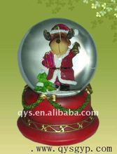 Christmas Deer Glass Snow Globe