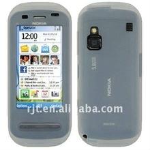 transparent phone skin silicon case for Nokia C6-(RJT-0734)