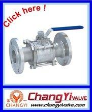 Stainless steel 3pc hand operated flange ball valve ,GB standard,shut down valve,dn40