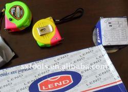 land style 3m multicolor case steel measuring tape