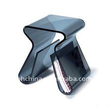 PW-120 Black Acrylic Bar Stool
