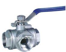 L-Type Three Way Screwed Ball valve
