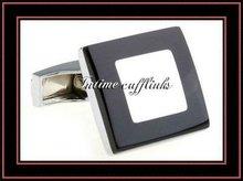 men's fashion enamel metal cufflinks & tie pin set