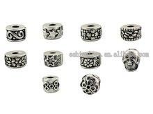 Tibetan Silver Plate Stopper Beads Clip/Locks Fit European Bracelets tdmix2,Sold per packet of 100Pcs