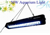 50W LED Aquarium Light Bar Fixture 3W Cree With Lens For Marine Coral Reef Panel Fish Tank System 3G Saltwater Lights