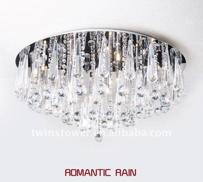 Cristal de la lámpara de techo