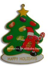 2014 promotional Christmas tree decoration lapel pin badge emblem(BS-JL-LP-14112702)