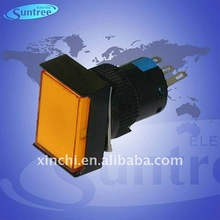 micro rectangular 16mm 1NO 1NC / 2NO 2NC micro push button switch