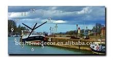 2012 boat wooden wall clock