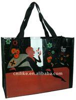 fashion laminated pp non woven tote bag