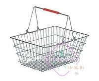 supermarket chrome shopping basket