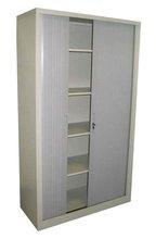 steel file cupboard with wood-grain sliding door