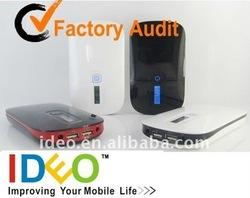 Dual Usb External Battery Charger 8000mah for iPad/Samsung/Playbook/Moto/HTC