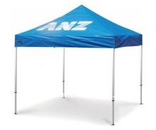 blue aluminum instant shelter