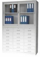 wide roller-shutter-door steel office cupboard