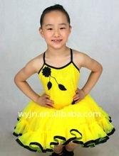 flower girl dresses for 7 age group-bright yellow girl's tutu
