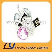 Free shipping apple shape Jewelry usb flash drive superior quality
