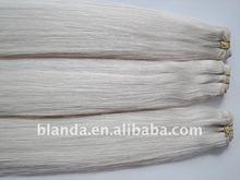 60cm Bohemian silver remy straight human hair weaving