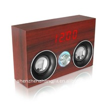 2011 newest Digital Wooden Clock with Speaker