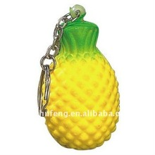 PU foamed antistress pineapple keychain for promotional gifts