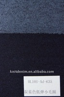 Cotton polyester spandex/knitting denim fabric