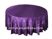 Greating!!! 2011 purple colour pintuck table cloth,taffeta table cloth,crushed/crinkle table cloth
