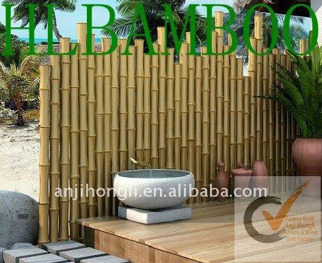 Pared de bamb para el jard n de la decoraci n vallado for Decoracion jardin con bambu