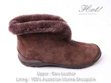 Sheepskin mens boots