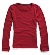 womens t-shirt round neck long sleeve tee