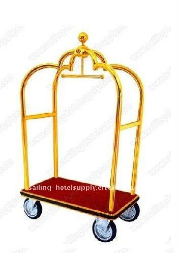 hotel luggage trolley hot sale