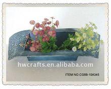 Particular rectangular zinc planter