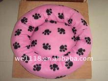pink pawing pet bed