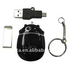 4GB 640*480 Security Product Cow Shape Keychain CT1201