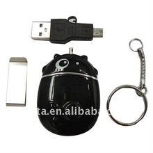 4GB 640*480 Pinhole Camera Cow Shape Keychain CT1201