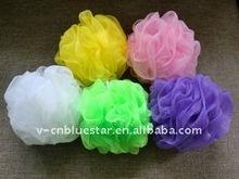 PE bath ball, body shower puff, mesh bath sponge