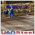 engranzamento de reforço de aço da laje para o concreto