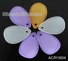 Mixed colors lucite beads leaves matt frosted charm in stock